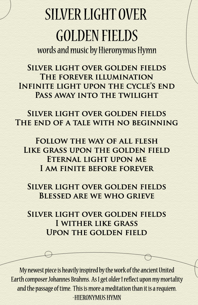 Silver Light Over Golden Fields